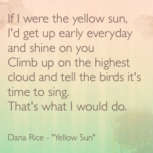 Yellow Sun Lyric